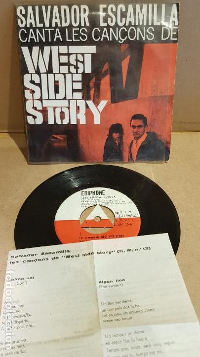 SALVADOR ESCAMILLA CANTA LES CANÇONS DE WEST SIDE STORY / EP - EDIPHONE-1962 / MBC. ***/*** (Música - Discos de Vinilo - EPs - Bandas Sonoras y Actores)