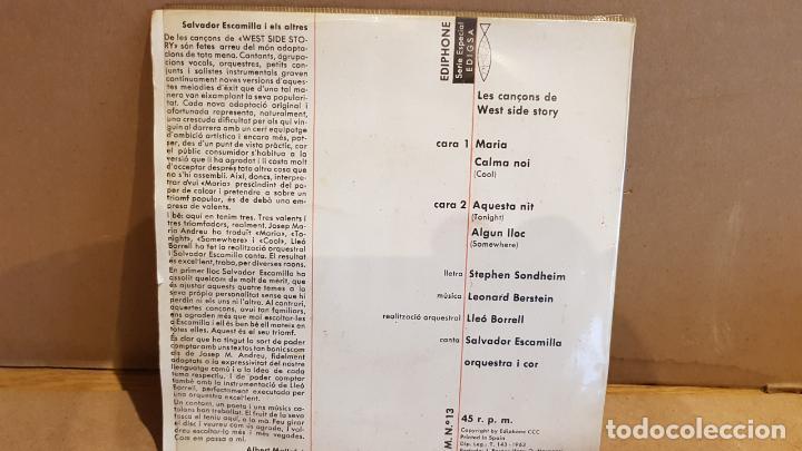 Discos de vinilo: SALVADOR ESCAMILLA CANTA LES CANÇONS DE WEST SIDE STORY / EP - EDIPHONE-1962 / MBC. ***/*** - Foto 2 - 149586158