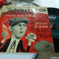 Discos de vinilo: DEACON ANDY GRIFFITH SINGLE WHAT IT WAS ,WAS FOOTBALL U.S.A. 1954. Lote 149613957