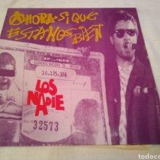 Discos de vinilo: LOS NADIE. AHORA SI QUE ESTAMOS BIEN . LP 1992 -PUNK - ROCK DESDE VALLADOLID-. Lote 165076094