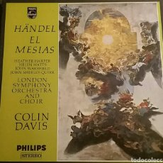 Discos de vinilo: EL MESIAS. HÄNDEL. LONDON SYMPHONY ORCHESTRA AND CHOIR. COLIN DAVIS. PHILIPS, 1977.. Lote 149626386