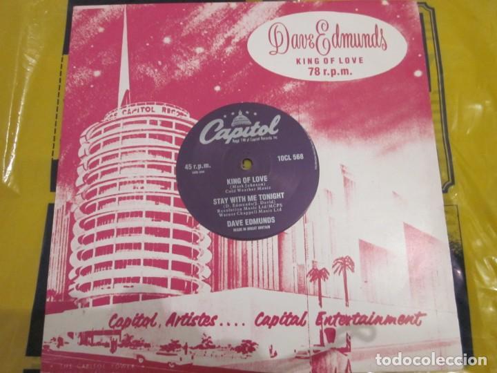 DAVE EDMUNDS - KING OF LOVE - 10 PULGADAS - EDICION INGLESA DEL AÑO 1990. (Música - Discos de Vinilo - Maxi Singles - Rock & Roll)