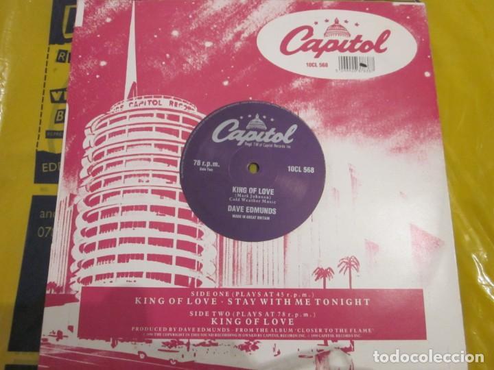 Discos de vinilo: DAVE EDMUNDS - KING OF LOVE - 10 PULGADAS - EDICION INGLESA DEL AÑO 1990. - Foto 2 - 149685358