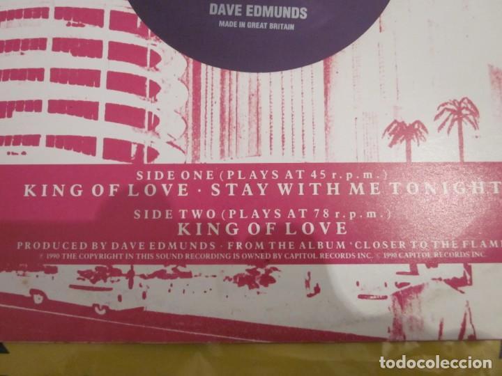 Discos de vinilo: DAVE EDMUNDS - KING OF LOVE - 10 PULGADAS - EDICION INGLESA DEL AÑO 1990. - Foto 3 - 149685358