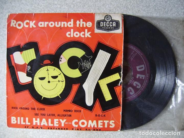 BILL HALEY.ROCK AROUND THE CLOCK+3 (Música - Discos de Vinilo - EPs - Rock & Roll)