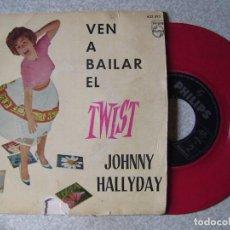 Discos de vinilo: JOHNNY HALLYDAY.VEN A BAILAR EL TWIST+3. Lote 149692794