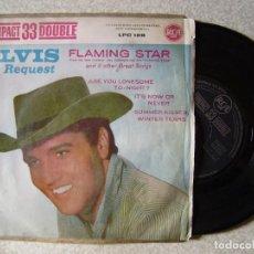 Discos de vinilo: ELVIS PRESLEY.FLAMING STAR+3...VINILO EX. Lote 149693130