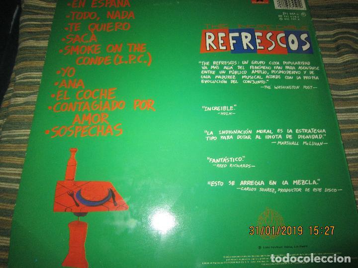 Discos de vinilo: REFRESCOS - KINGS OF CHUN CHUNDA LP - ORIGINAL ESPAÑOL - - POLYDOR RECORDS 1990 FUNDA INT. ORIGINAL - Foto 2 - 149693522