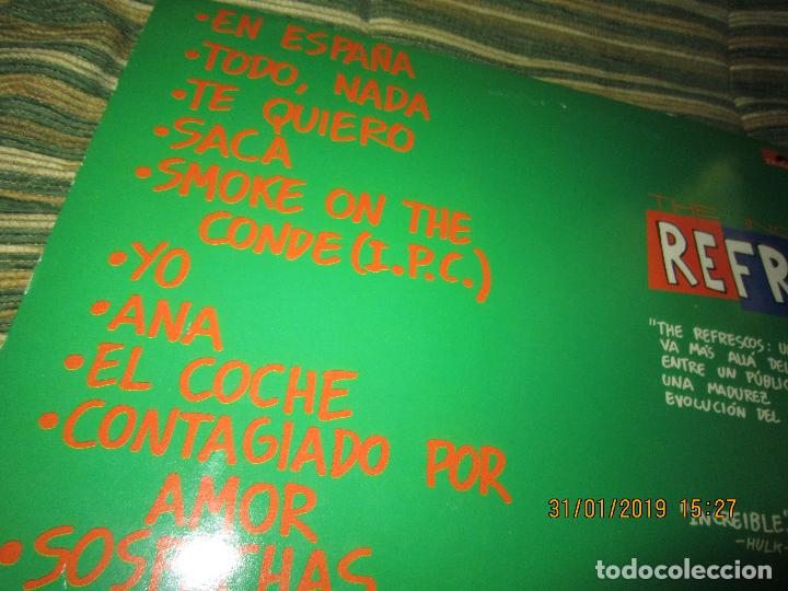 Discos de vinilo: REFRESCOS - KINGS OF CHUN CHUNDA LP - ORIGINAL ESPAÑOL - - POLYDOR RECORDS 1990 FUNDA INT. ORIGINAL - Foto 3 - 149693522