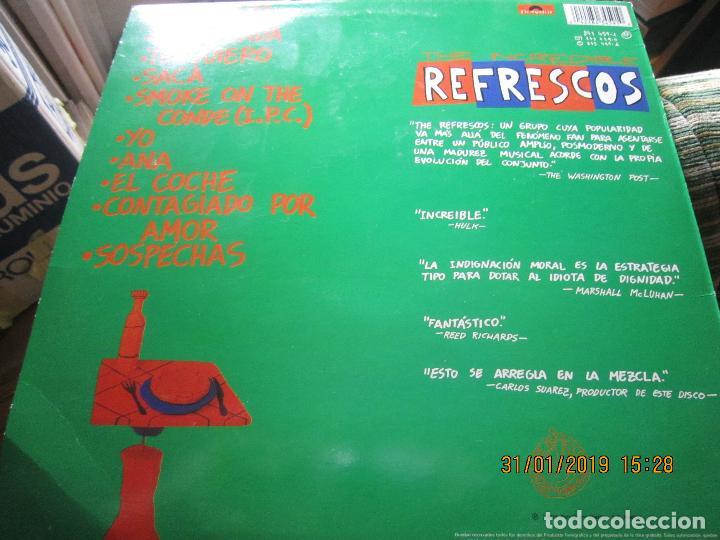 Discos de vinilo: REFRESCOS - KINGS OF CHUN CHUNDA LP - ORIGINAL ESPAÑOL - - POLYDOR RECORDS 1990 FUNDA INT. ORIGINAL - Foto 6 - 149693522