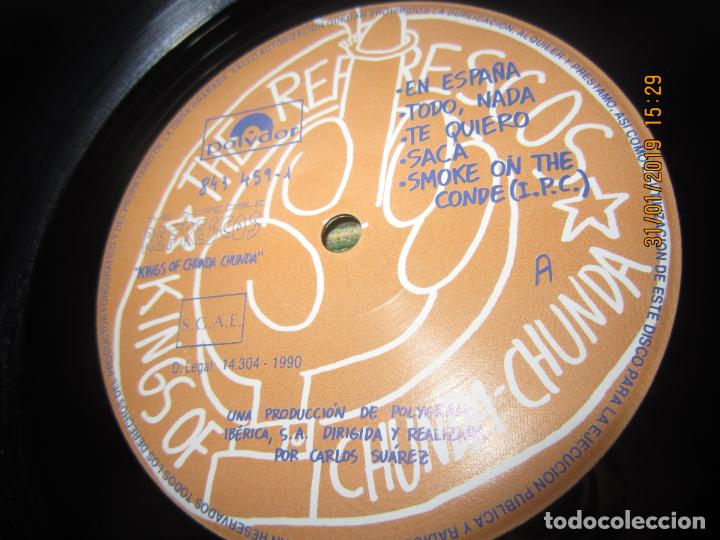 Discos de vinilo: REFRESCOS - KINGS OF CHUN CHUNDA LP - ORIGINAL ESPAÑOL - - POLYDOR RECORDS 1990 FUNDA INT. ORIGINAL - Foto 12 - 149693522