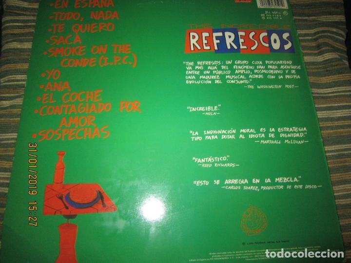 Discos de vinilo: REFRESCOS - KINGS OF CHUN CHUNDA LP - ORIGINAL ESPAÑOL - - POLYDOR RECORDS 1990 FUNDA INT. ORIGINAL - Foto 16 - 149693522