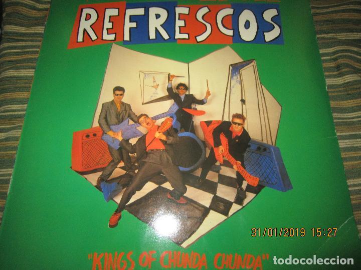 Discos de vinilo: REFRESCOS - KINGS OF CHUN CHUNDA LP - ORIGINAL ESPAÑOL - - POLYDOR RECORDS 1990 FUNDA INT. ORIGINAL - Foto 17 - 149693522