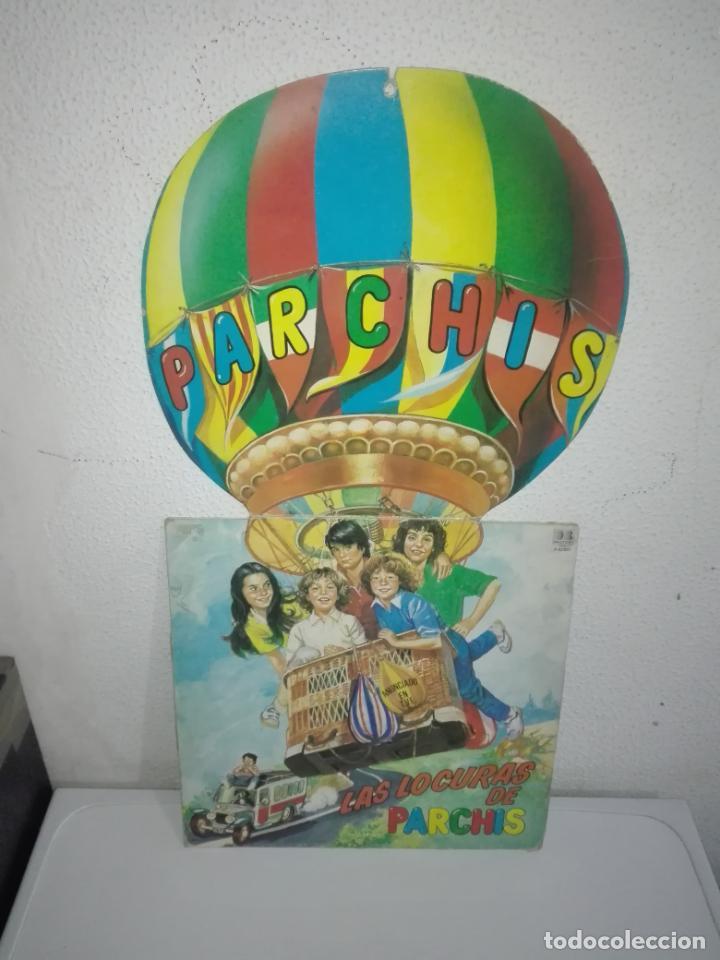 DISCO VINILO LAS LOCURAS DE PARCHÍS LP 1982 VINILO COLOR AMARILLO (Música - Discos - LPs Vinilo - Música Infantil)
