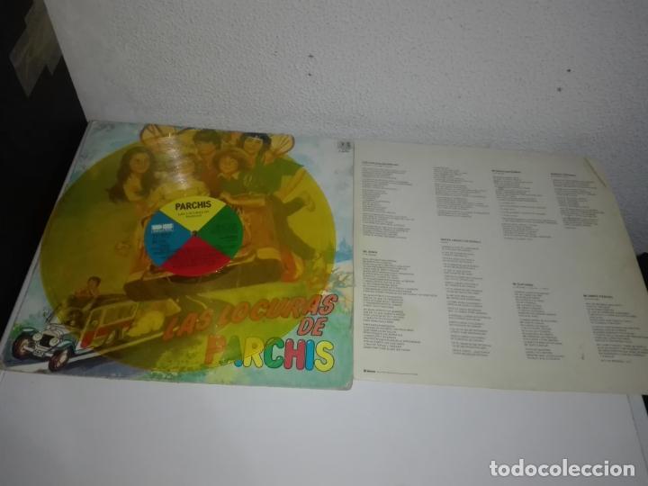 Discos de vinilo: Disco vinilo LAS LOCURAS DE PARCHÍS LP 1982 VINILO COLOR AMARILLO - Foto 3 - 149710826