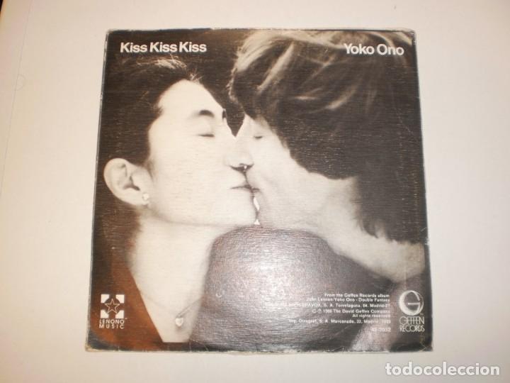 Discos de vinilo: single john lennon (beatles) yoko ono. (just like) starting over. kiss kiss kiss. geffen 1980 spain - Foto 2 - 149722682