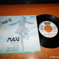 Discos de vinilo: MAXI DO I DREAM EUROVISION 1973 IRLANDA HERE TODAY AND GONE TOMORROW SINGLE VINILO PROMO ESPAÑA . Lote 149727254