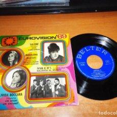 Discos de vinilo: EUROVISION 1969 SALOME MADALENA IGLESIAS IVAN & M´S FRIDA BOCCARA EP VINILO BELTER ESPAÑA 4 TEMAS. Lote 149728846
