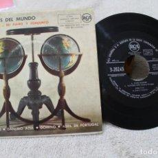 Discos de vinilo: A TRAVES DEL MUNDO ESQUIVEL SU PIANO Y CONJUNTO OJOS NEGROS EP 1959. Lote 149744262
