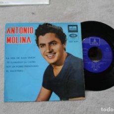 Discos de vinilo: ANTONIO MOLINA LA HIJA DE JUAN SIMON EP ODEON 1964. Lote 149748118