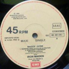 Discos de vinilo: IRON MAIDEN - MAIDEN JAPAN 1981 ES / SIN CARPETA. Lote 149786577