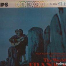 Discos de vinilo: LP FRANK & VALUCHA THE WORLD OF... PHILIPS PHS 600 058 USA 1961 FOLK. Lote 149810142