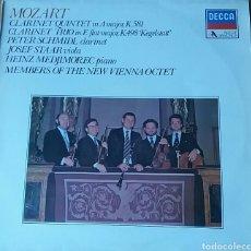 Discos de vinilo: MOZART. QUINTETO PARA CLARINETE LAM K581/TRIO MIBM K498 KEGELSTATT. LP ACE OF DIAMONDS. Lote 149823649