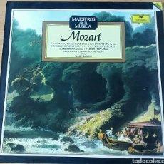Discos de vinilo: MOZART.CONCIERTO PARA CLARINETE LAM K622/ CONCIERTO PARA FLAUTA N°1 SOLM K313. DEUTSCHE GRAMMOPHON. Lote 149825392
