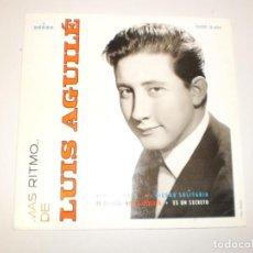 Discos de vinilo: SINGLE LUIS AGUILÉ. VERDE. CIUDAD SOLITARIA. TE QUIERO, NO LO OLVIDES. ES UN SECRETO. EMI 1964 SPAIN. Lote 149825586