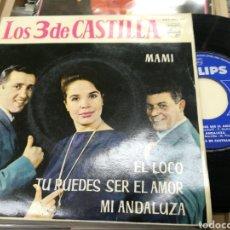 Discos de vinilo: LOS 3 DE CASTILLA EP MAMI + 3 1962. Lote 149851549