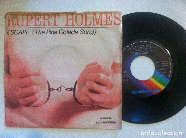RUPERT HOLMES - ESCAPE (THE PIÑA COLADA SONG) / DROP IT - SINGLE 1980 - MCA (Música - Discos de Vinilo - Singles - Pop - Rock Extranjero de los 80)
