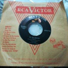 Discos de vinilo: LOLA FLORES SINGLE PROMOCIONAL 13 DE MAYO - MIL BESOS MEXICO. Lote 149864498