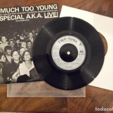 Discos de vinilo: THE SPECIALS - TO MUCH TO YOUNG FEAT. RICO RODIRGUEZ - 2TONE RECORS CHRYSALIS INGLESA 1980 VG+. Lote 149867346