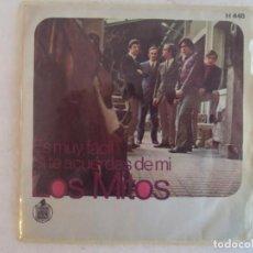 Discos de vinilo: LOS MITOS, ES MUY FACIL, SI TE ACUERDAS DE MI. SINGLE EDICION ESPAÑOLA 1969 HISPAVOX. Lote 149867922