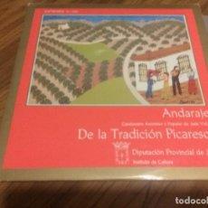 Discos de vinilo: ANDARAJE. CANCIONERO ANONIMO Y PUPULAR JAÉN II. VINILO EN PERFECTO ESTADO. CARPETA CON CUADERNILLO. Lote 149897438