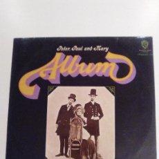 Discos de vinilo: PETER PAUL AND MARY ALBUM ( 1967 WARNER BROS HISPAVOX ESPAÑA ) FOLK ROCK USA 60'S. Lote 149899778