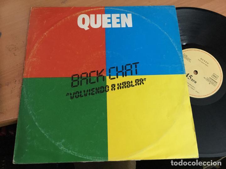 QUEEN (BACK CHAT . VOLVIENDO A HABLAR ) MAXI ESPAÑA (VIN-A9) (Música - Discos de Vinilo - Maxi Singles - Pop - Rock Extranjero de los 70)
