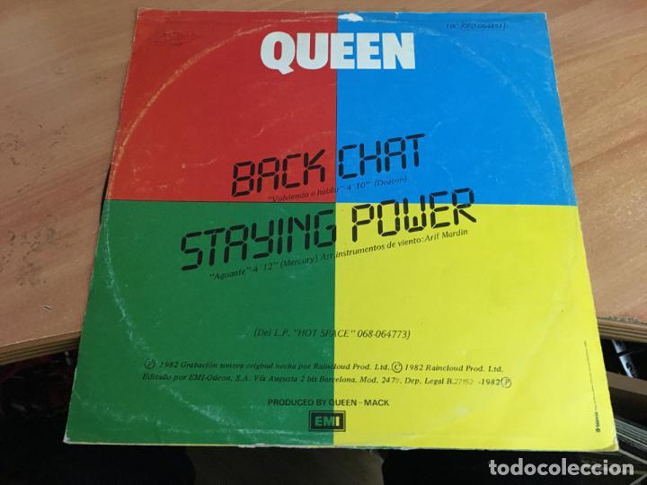 Discos de vinilo: QUEEN (BACK CHAT . VOLVIENDO A HABLAR ) MAXI ESPAÑA (VIN-A9) - Foto 3 - 151036345