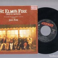 Discos de vinilo: JOHN PARR - ST. ELMO'S FIRE (MAN IN MOTION) (SINGLE 7'' 1985). Lote 149940758