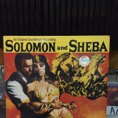 Discos de vinilo: SALOMON Y LA REINA DE SABA (SOLOMON AND SHEBA). BANDA SONORA ORIGINAL DE LA PELÍCULA. Lote 149942932