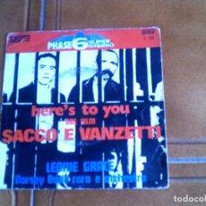 Discos de vinilo: DISCO DEL FILM SACCO E VANZETTI DE LEONIE GRACE 1971. Lote 149960966