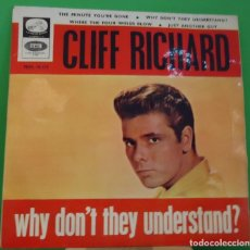 Discos de vinilo: EP 7'' CLIFF RICHARD - WHY DON'T THEY UNDERSTAND . Lote 149986062