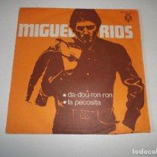 Discos de vinilo: MIGUEL RIOS - DA-DOU-RON-RON / LA PECOSITA - SINGLE 1970 - PROMOCIONAL. Lote 149988250