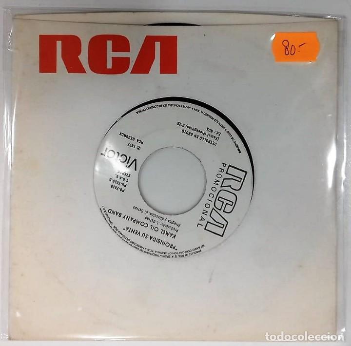 KAMEL OIL COMPANY BAND - MUSTAPHA / PETROLEO EN BRUTO SG PROMO ED. ESPAÑA 1977 (Música - Discos - Singles Vinilo - Electrónica, Avantgarde y Experimental)