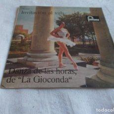 Discos de vinilo: WEBER INVITACIÓN AL VALS / DANZAS DE LAS HORAS, DE LA GIOCONDA . Lote 150003242