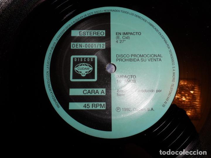Discos de vinilo: IMPACTO 10 AÑOS - EN IMPACTO (PROMOCIONAL) - Foto 3 - 150005950