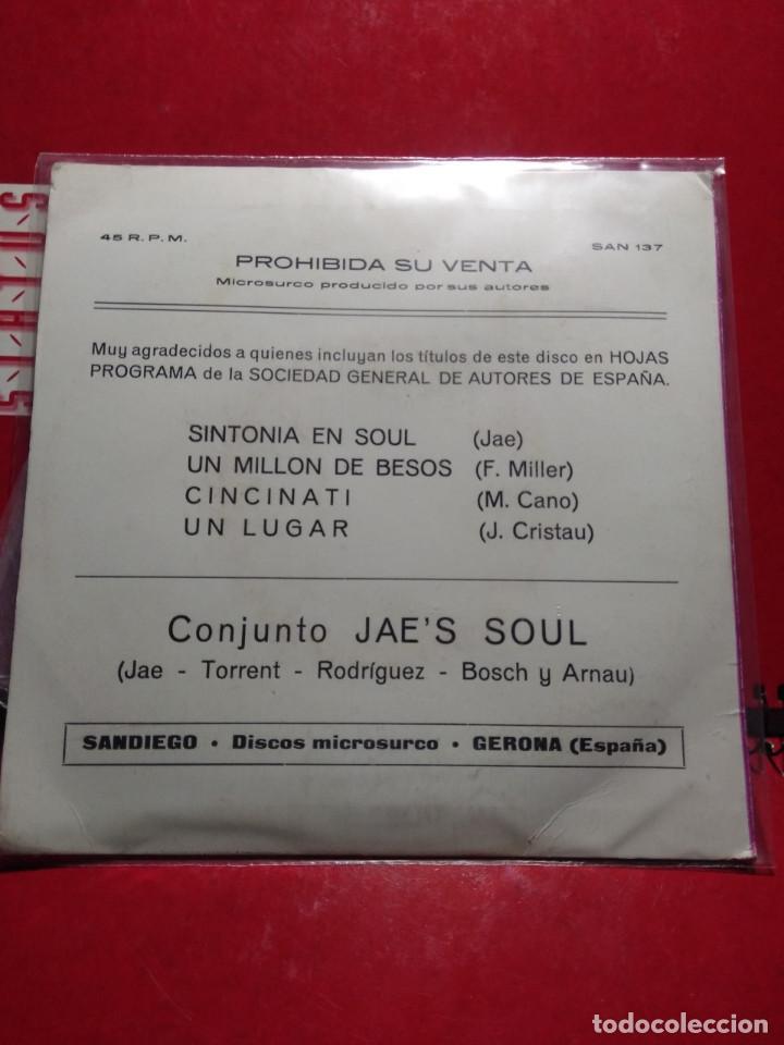 Discos de vinilo: EP CONJUNTO JAES SOUL : SINTONIA EN SOUL ( EP SANDIEGO, AÑO 1979) COMPLETAMENTE NUEVO - Foto 2 - 150029050