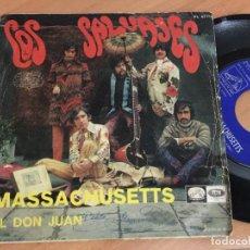 Discos de vinilo: LOS SALVAJES (MASSACHUSETTS) SINGLE (EPI14). Lote 150029918