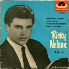 Discos de vinilo: RICKY NELSON – VOL. 4 - EP SPAIN 1961 - POLYDOR ?27 720 EPH. Lote 150030046