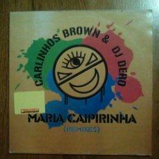 Discos de vinilo: CARLINHOS BROWN & DJ DERIO - MARIA CAIPIRINHA (REMIXES), VALEMUSIC, 2004. E.U.. Lote 150040400